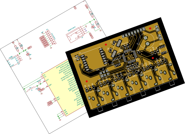 Electronic schematic and PCB layout